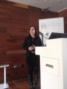 Dr. Jenny Butler presenting. Photo by James Kapalo.