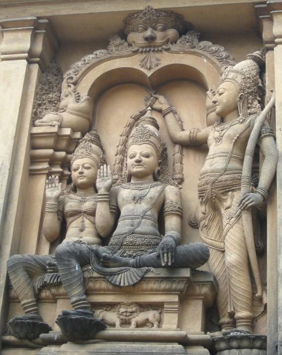 Vibhishana Crowned by Rama at Kelaniya (Photo by Stephen Jenkins)