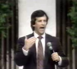 Image 2: Mike Shreve giving his testimony on how he was saved from yoga in Deliverance from the Occult (1991)